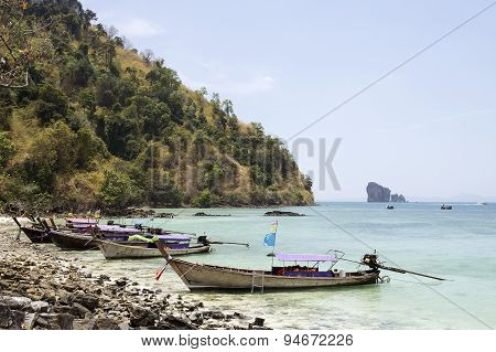 Long Boat And Tropical Beach I