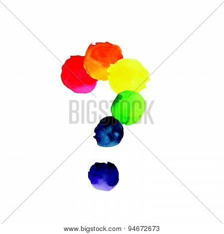 Watercolor Rainbow Colors Gay Lesbian LGBT vector illustration