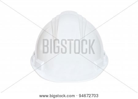 White hard hat on white background