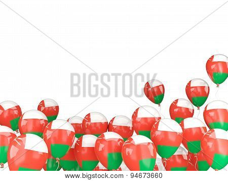 Flying Balloons With Flag Of Oman