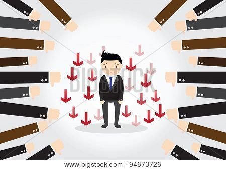 Businessman Feedback Concept