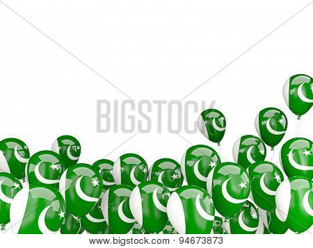 Flying Balloons With Flag Of Pakistan