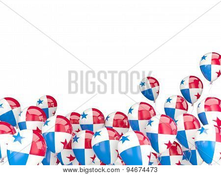 Flying Balloons With Flag Of Panama