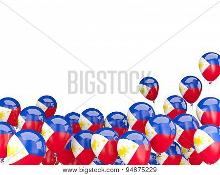 Flying Balloons With Flag Of Philippines