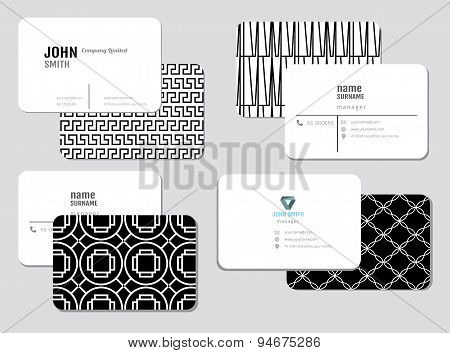 Modern simple business card template, vector illustration