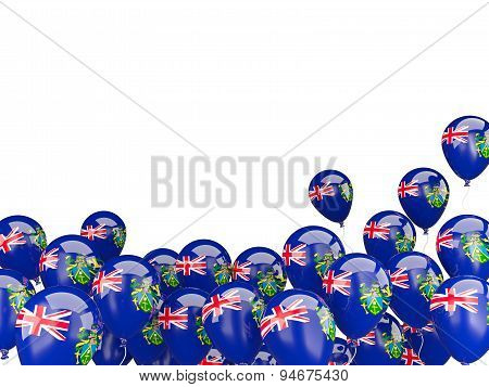 Flying Balloons With Flag Of Pitcairn Islands