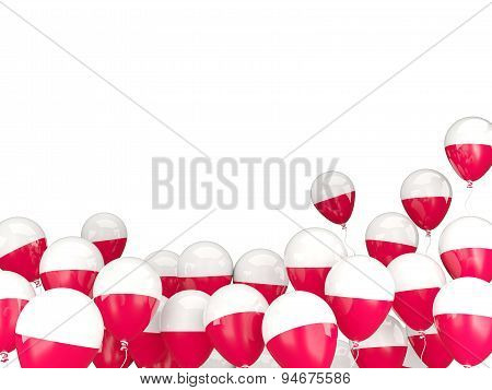 Flying Balloons With Flag Of Poland