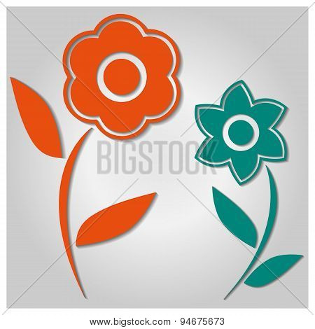 Background Of Flowers, Vector Illustration.