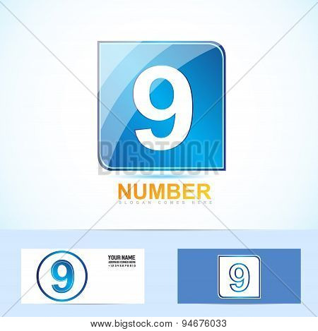 Number Nine 9 Logo