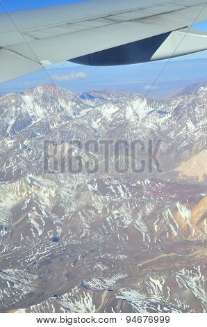 Andes, Chile - November 10, 2011: The Andes Mountains, The Longest Continental Mountain Range In The