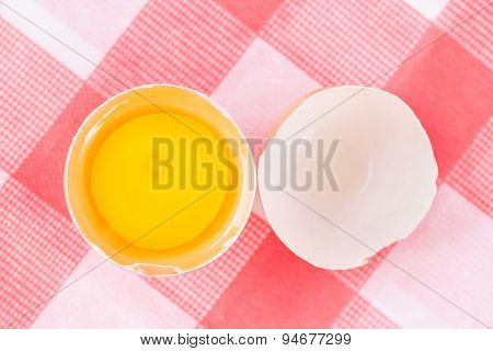 Raw Egg On Egg Shell
