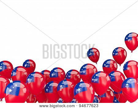 Flying Balloons With Flag Of Samoa