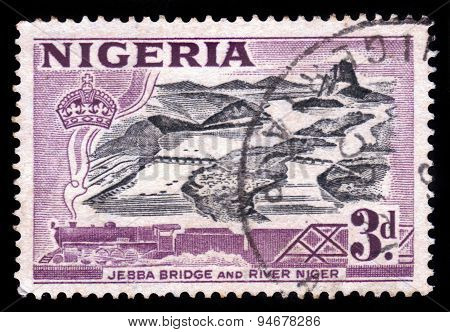 Jebba Bridge And River Niger In Nigeria