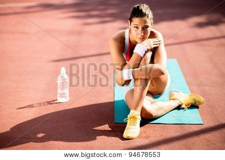 Young Woman Taking Exercise