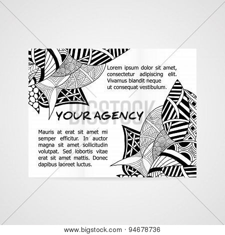 Design of brochure company.