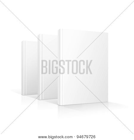 Blank books cover standing isolated vector