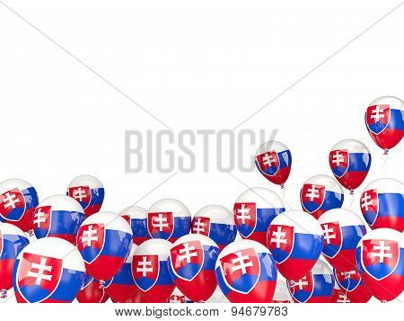 Flying Balloons With Flag Of Slovakia