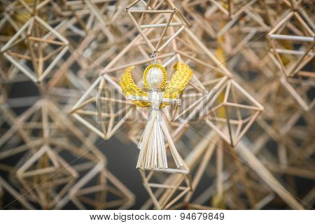 Decoration Angels From Straw