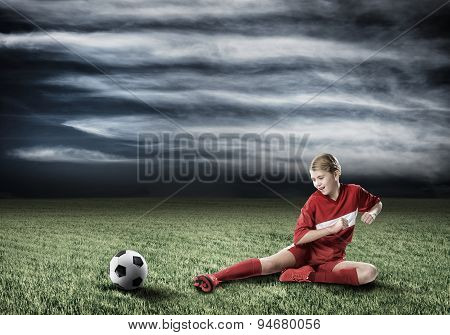 Football female player
