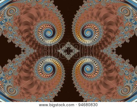 Beautiful Background With Spiral Pattern. Purple And Gray Palette. Artwork For Creative Design