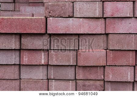red brick stone close up -background
