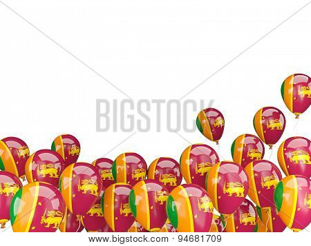 Flying Balloons With Flag Of Sri Lanka