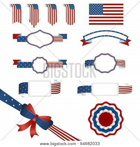 set of american banners