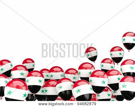 Flying Balloons With Flag Of Syria