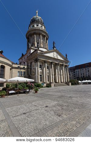 The French Cathedral (franzoesischer Dom) At The Gendarmenmarkt In Berlin, Germany.