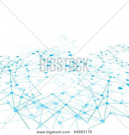 Abstract Background Network Connect Concept - Vector Illustration 010