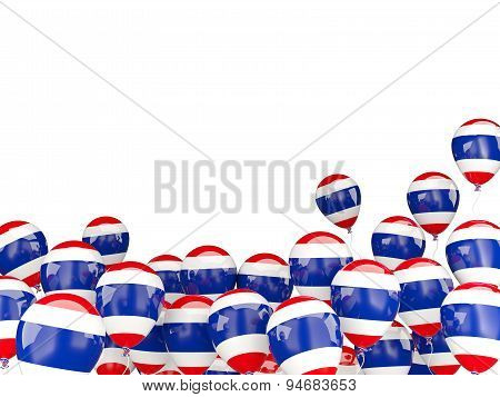 Flying Balloons With Flag Of Thailand