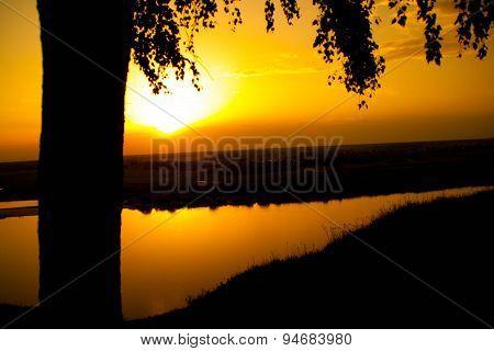 Sunset on the Oka River