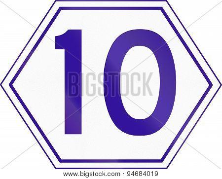 Australian Metroad Route Marker Number 10