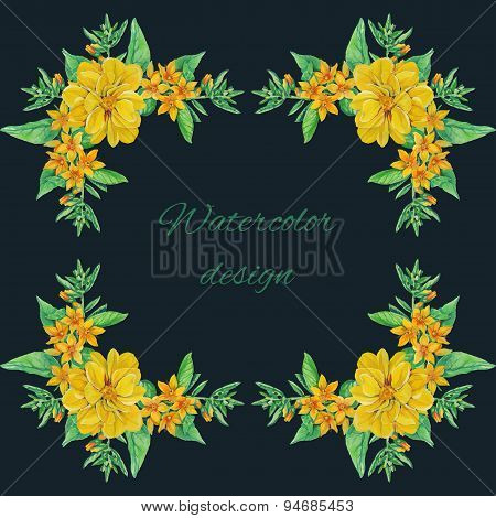 tulip flowers bouquet decoration and text area