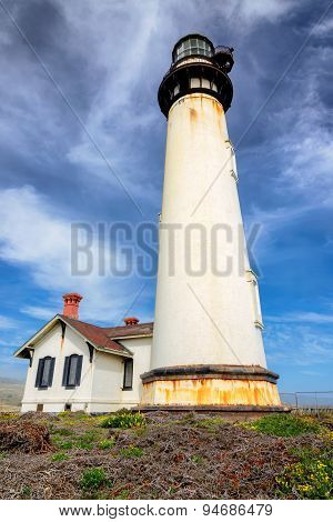 Pigeon Point Lighthouse in Pescadero, California
