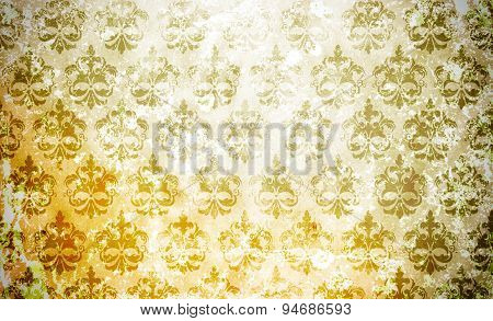 Dirty Floral Paper Background.