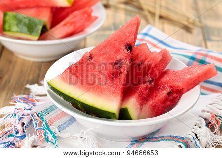 Sliced Watermelon.