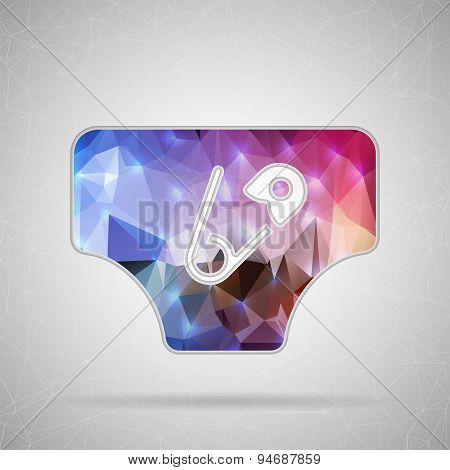 Abstract Creative concept vector icon of diaper for Web and Mobile Applications isolated on backgrou