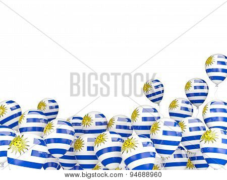 Flying Balloons With Flag Of Uruguay