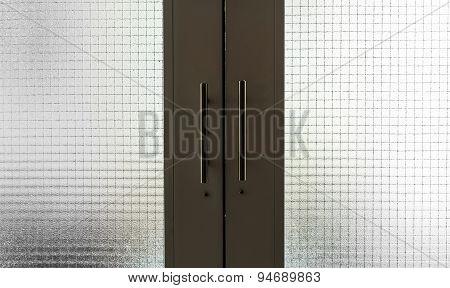 Dark Green Doors With Metal Handles