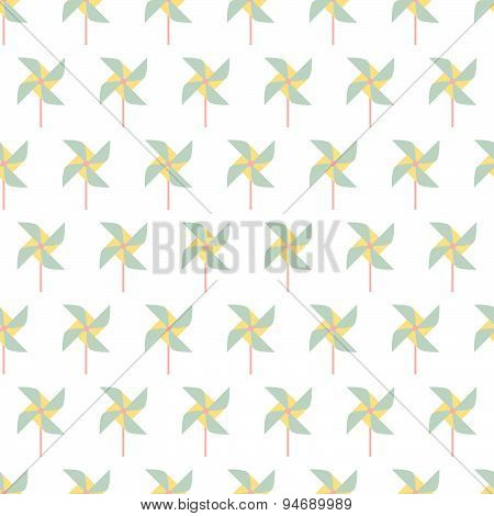 Colorful Pinwheel Seamless Pattern