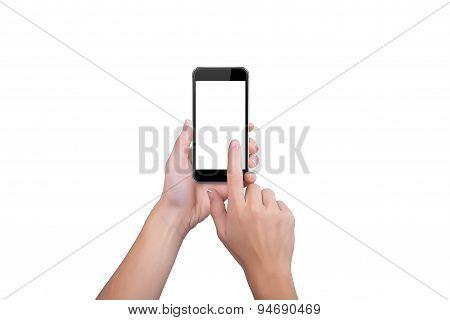 Girl Clicks On The Screen