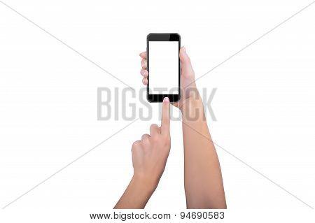 Girl Presses Home Button