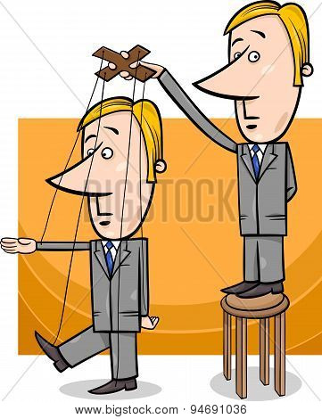 Puppet Businessman Concept Cartoon
