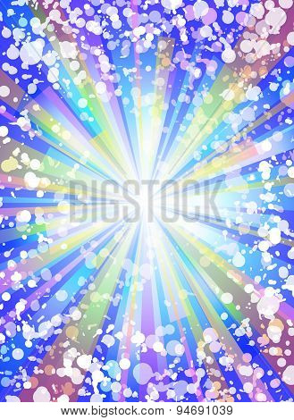 Colorful Flash Vertical Vector Background.