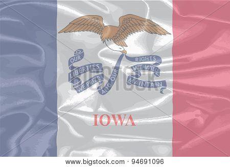 Iowa State Silk Flag