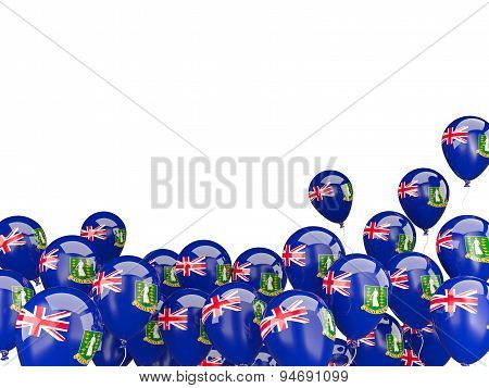 Flying Balloons With Flag Of Virgin Islands British