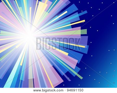 Colorful Flash Vector Background.