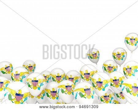 Flying Balloons With Flag Of Virgin Islands Us