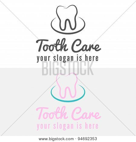 Logo, badge, label, logotype elements with mountains for web, business or clinic